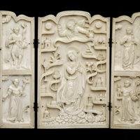 Ivory Triptych with Virgin