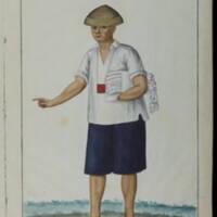 Watercolour from Colección de trages de Manila