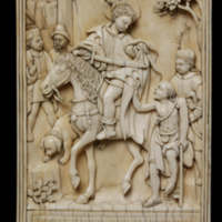 Relief, Ivory, 'St Martin and the Beggar'