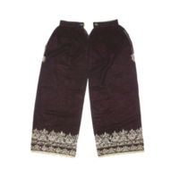Silk Trousers with Band in Running Stitch