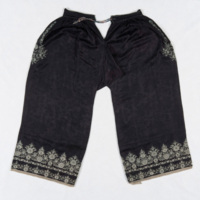 Silk Trousers with Animal Motifs