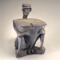 Seated Guardian Figure With Ritual Box (Punamham)